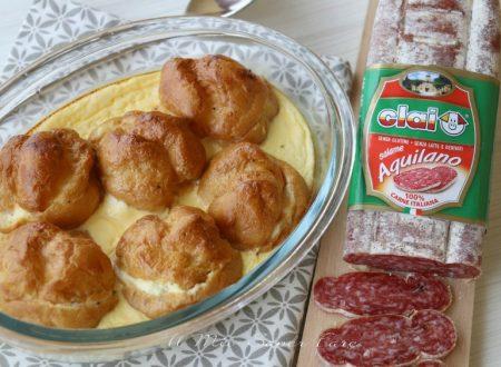 Torta salata di bignè con salame aquilano Clai