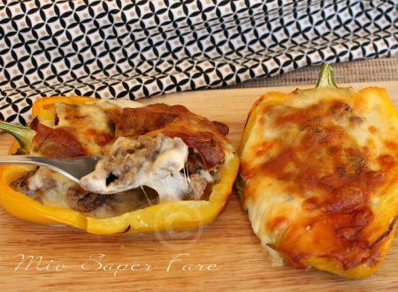 Peperoni ripieni carne e funghi super filanti e gustosi