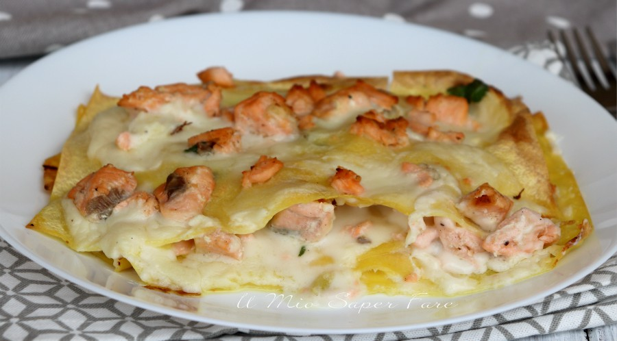 Lasagne al salmone fresco cremose ricetta facile il mio saper fare