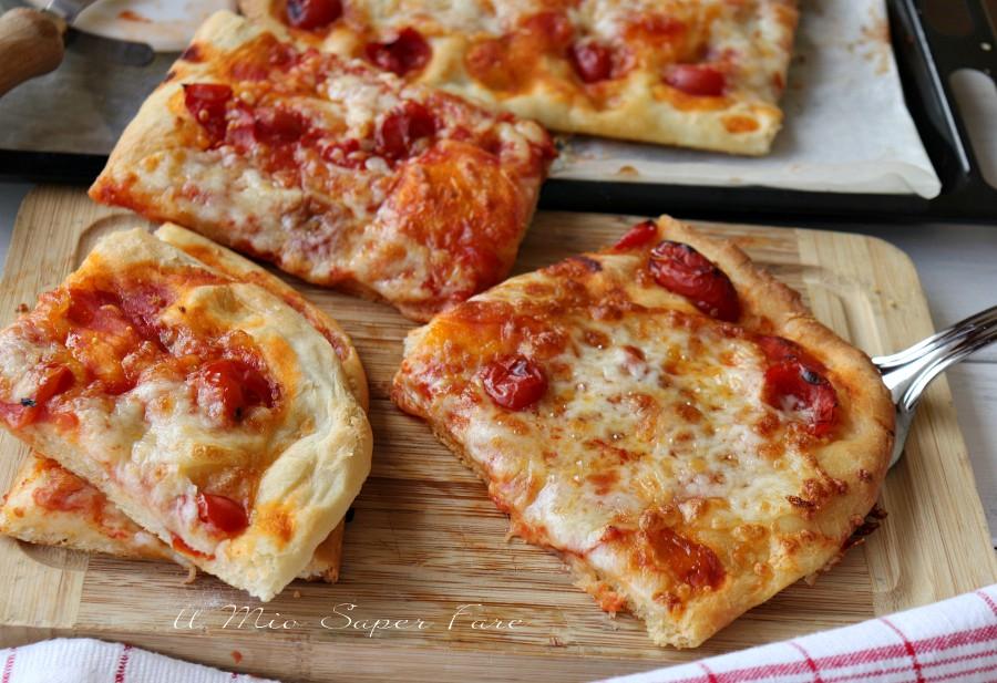 Pizza al taglio fatta in casa soffice e gustosa