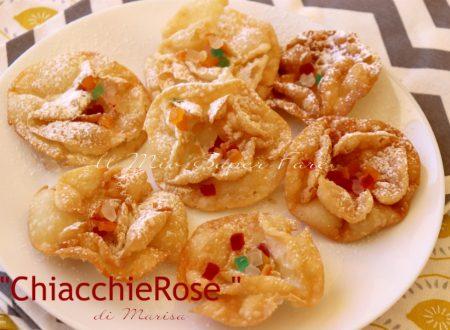 ChiacchieRose alla panna   Chiacchiere a forma di rosa