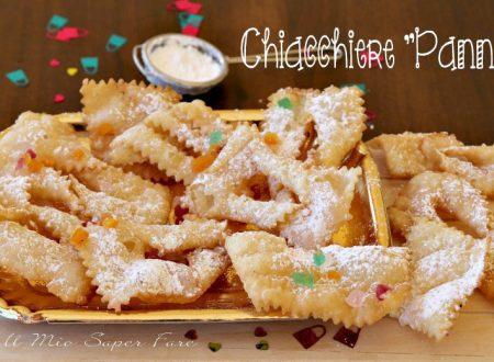 Chiacchiere pannose con solo farina e panna per dolci