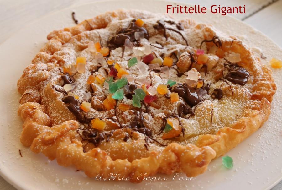 Frittelle di Carnevale giganti ricetta facile e veloce il mio saper fare