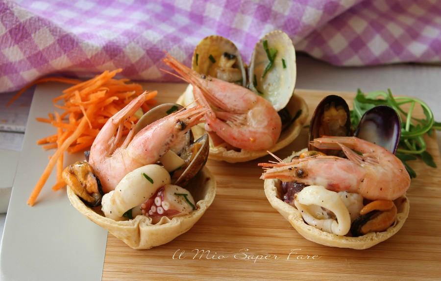 Cestini di piadina con insalata di mare croccanti e gustosi ricetta il mio saper fare