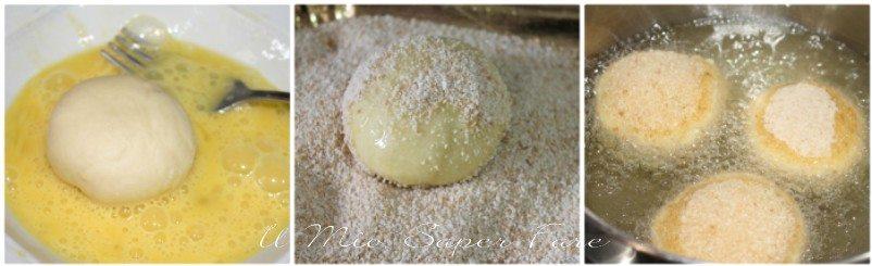 Iris con crema di ricotta dolce fritto siciliano ricetta il mio saper fare