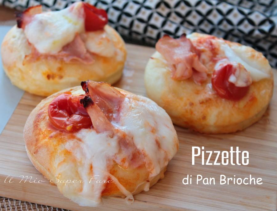 Pizzette di pan brioche sofficissime per buffet e aperitvi ricetta il mio saper fare