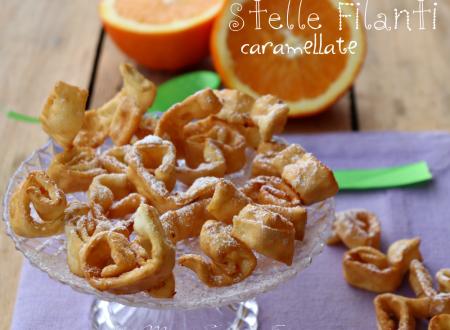 Stelle filanti dolci caramellate all'arancia ricetta di Carnevale