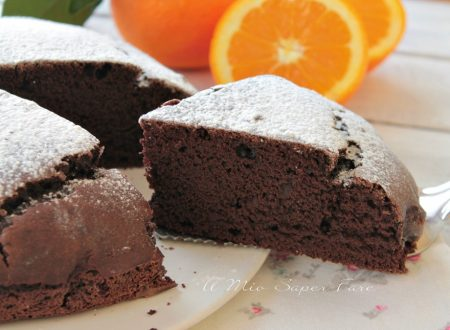 Torta magra all'arancia e cacao senza uova latte burro