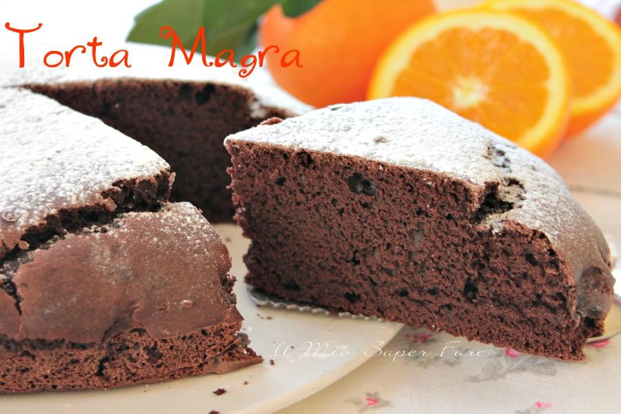 Torta magra all'arancia e cacao senza uova latte burro ricetta il mio saper fare