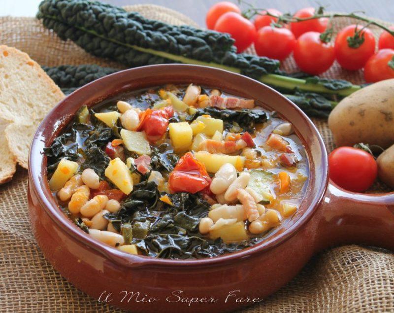 Zuppa frantoiana ricetta minestra di verdura e fagioli il mio saper fare