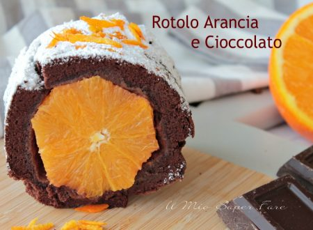 Rotolo arancia e cioccolato con ricetta pasta biscotto al cacao