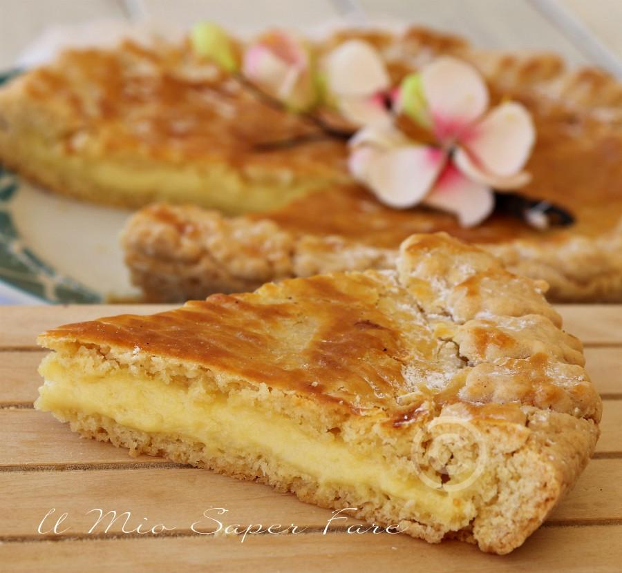 Torta basca alla crema ricetta facile Gateau basque il mio saper fare