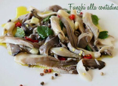 Funghi alla contadina sott'olio ricetta calabrese