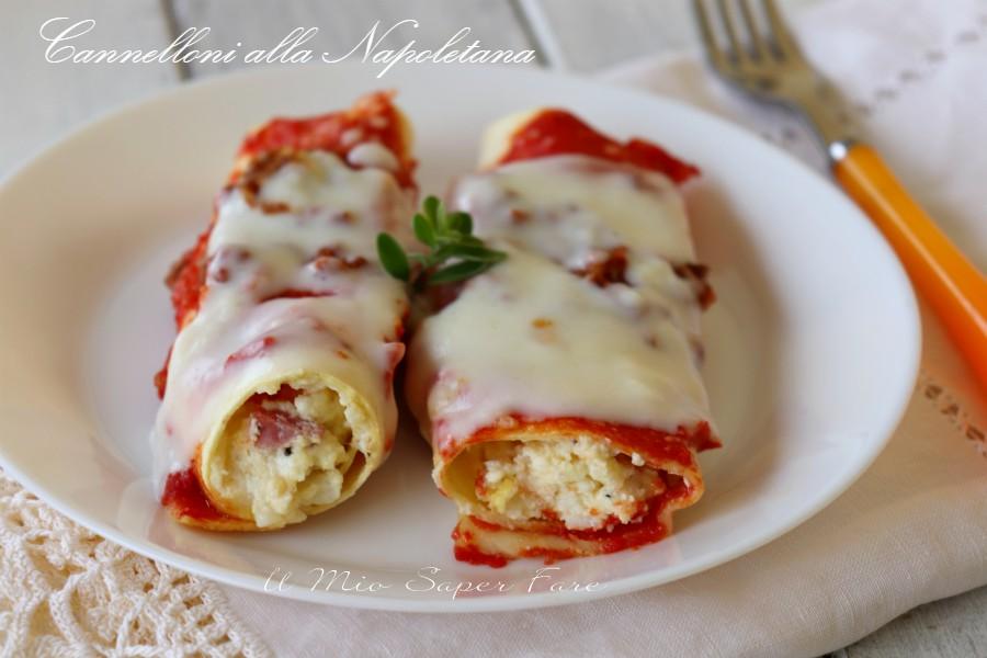 Cannelloni alla napoletana ricotta e mozzarella ricetta il mio saper fare