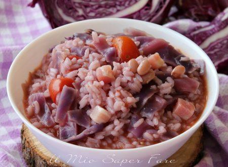 Cavolo viola con riso fagioli e pancetta ricetta minestra cremosa
