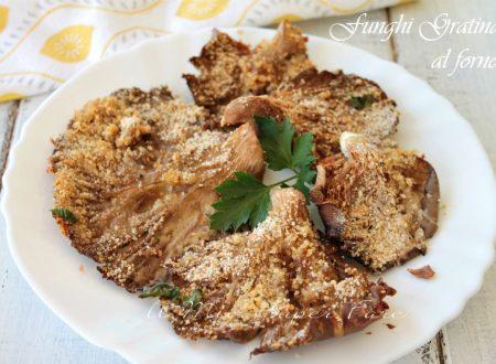 Funghi gratinati al forno croccanti, leggeri e gustosi