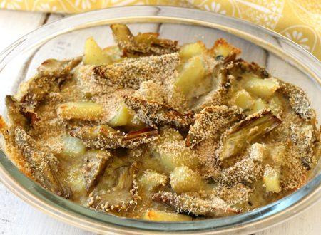 Tortiera di carciofi e patate al forno ricetta facile