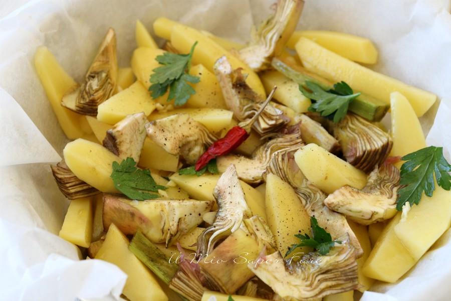 Carciofi e patate al forno ricetta il mio saper fare