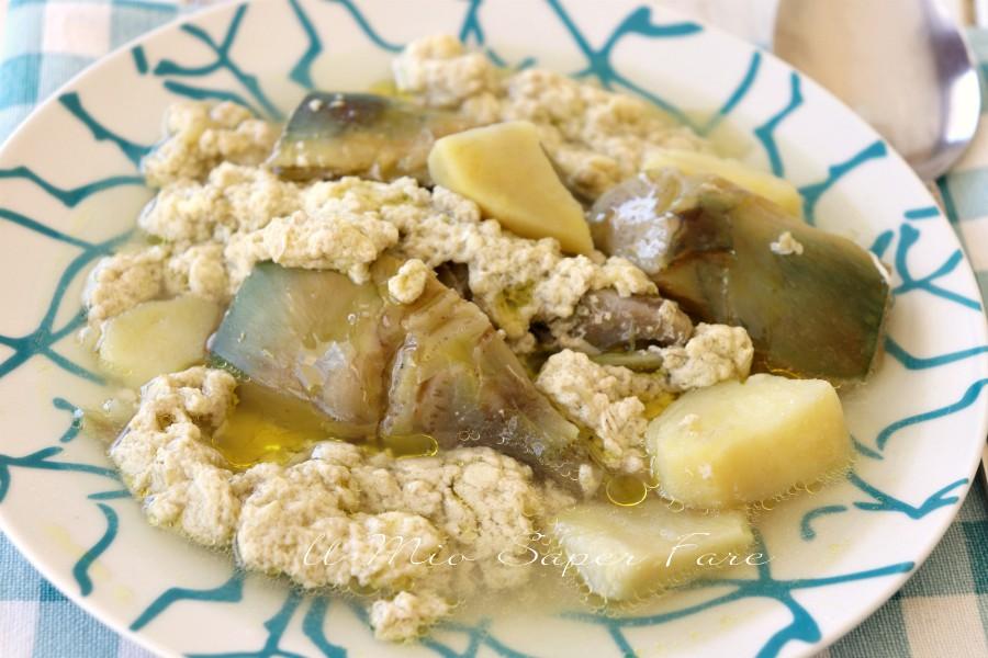 Stracciatella di carciofi minestra ricetta il mio saper fare