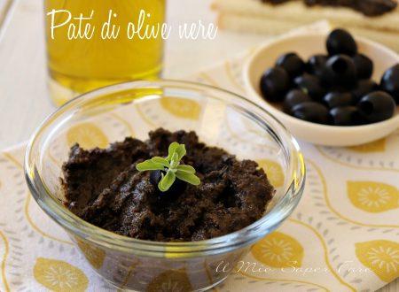 Pate' di olive nere fatto in casa con solo 2 ingredienti