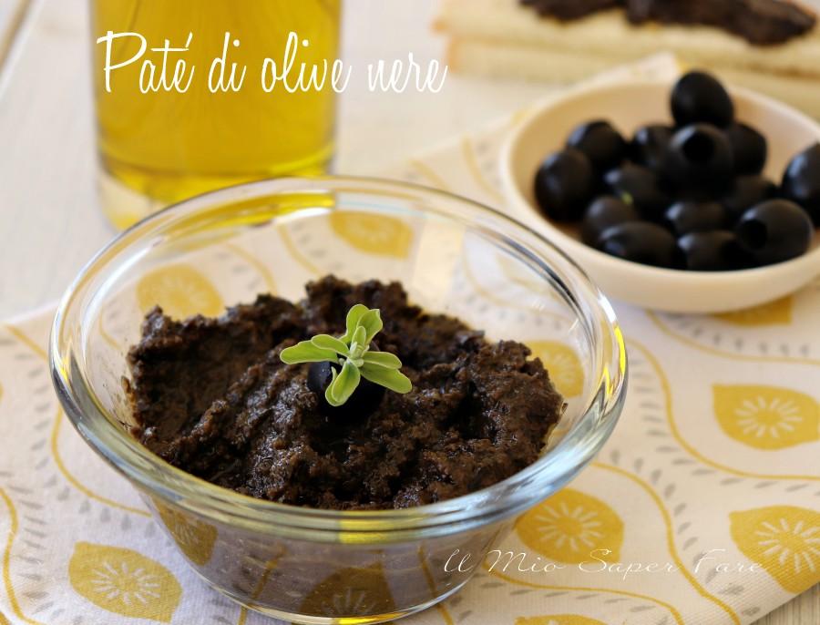 Pate' di olive nere fatto in casa con solo 2 ingredienti il mio saper fare
