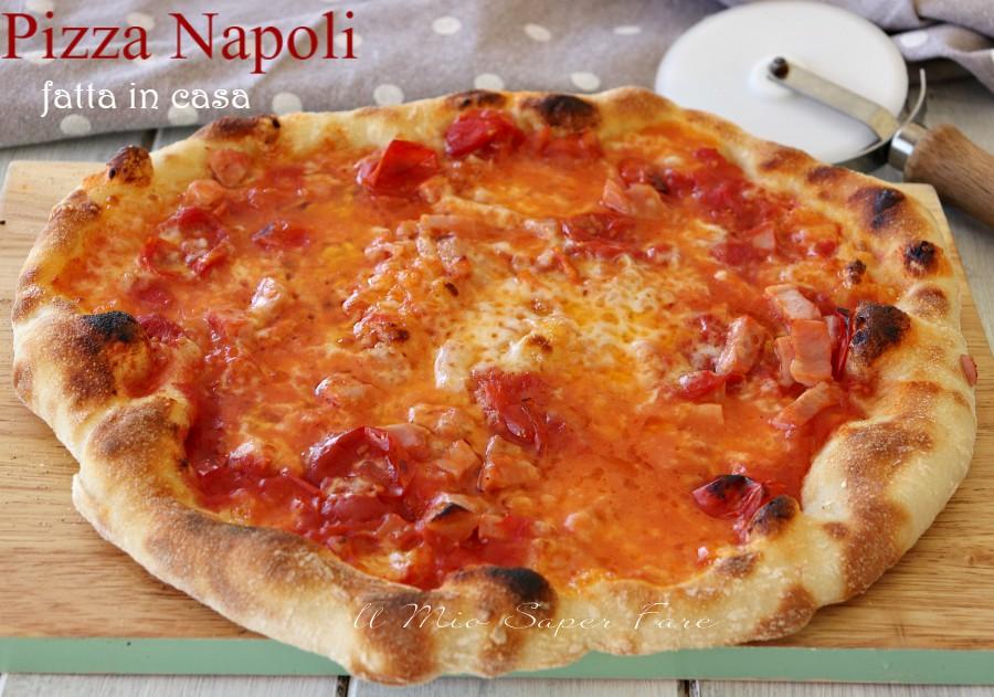 Pizza Napoli fatta in casa lievitazione in frigo ricetta il mio saper fare