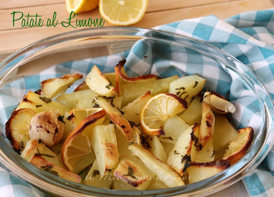 Patate al Limone dorate e croccanti ricetta al forno il mio saper fare