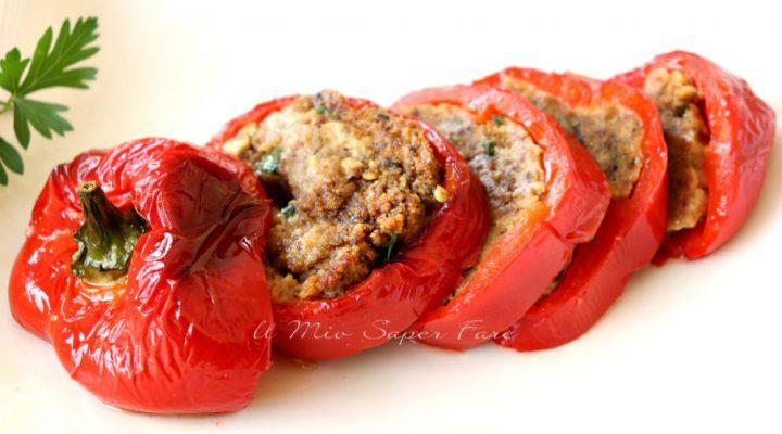 Peperoni ripieni alla pugliese ricetta con pane raffermo il mio saper fare