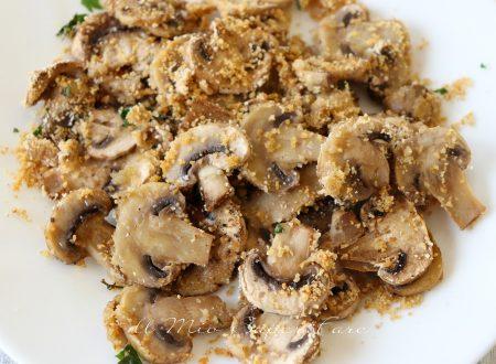 Funghi gratinati al forno ricetta veloce e facile
