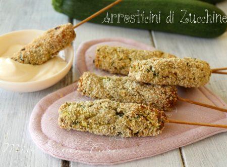 Arrosticini di zucchine e ricotta al forno
