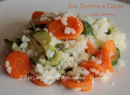 Risotto zucchine e carote ricetta per la dieta