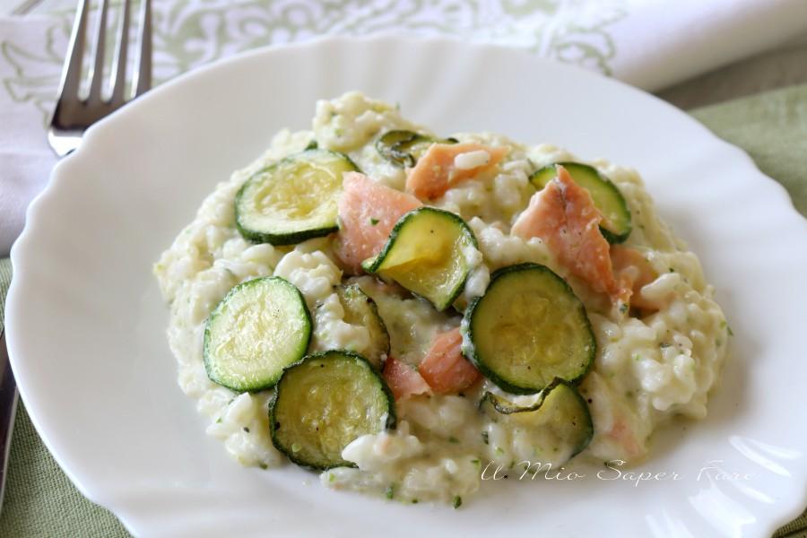 Risotto zucchine e salmone cremoso ricetta il mio saper fare