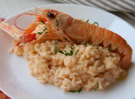 Risotto con scampi primo piatto di pesce