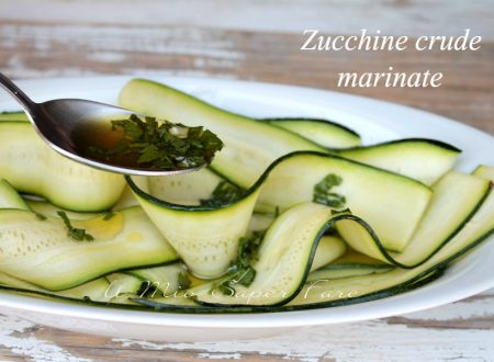 Zucchine crude marinate all'aceto