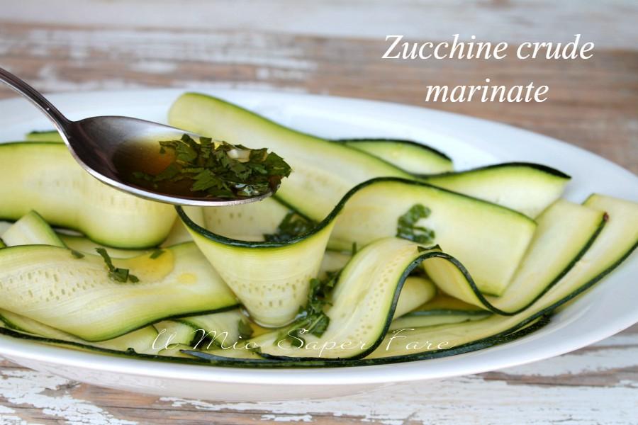 Zucchine crude marinate all'aceto ricetta il mio saper fare