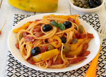 Puttanesca di peperoni con salsiccia casareccia Clai