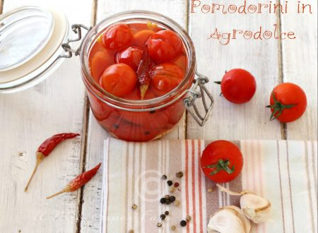 Pomodorini in agrodolce conserva facile