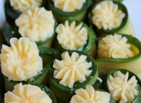 Involtini di zucchine e patate | Rotolini freddi di zucchine