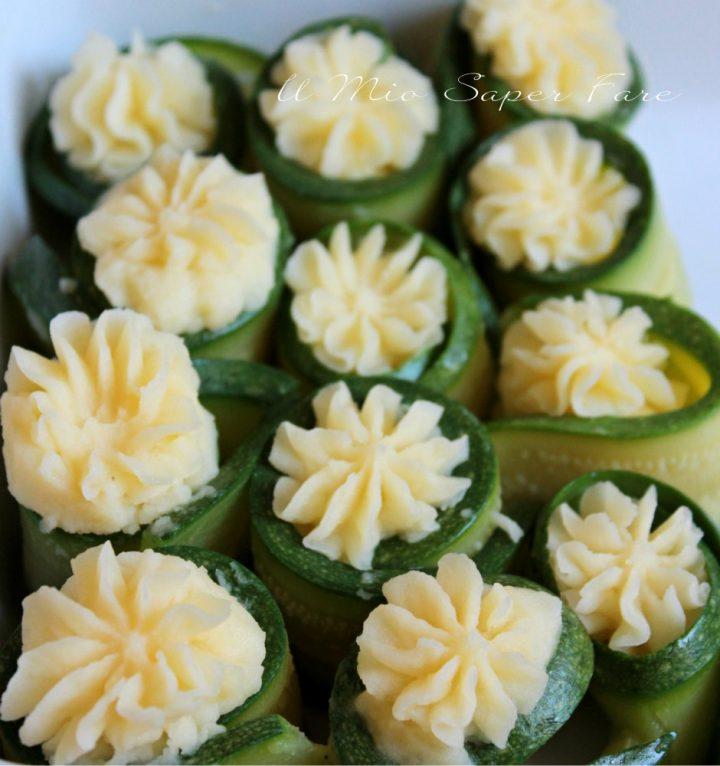Involtini di zucchine e patate | Rotolini freddi di zucchine il mio saper fare