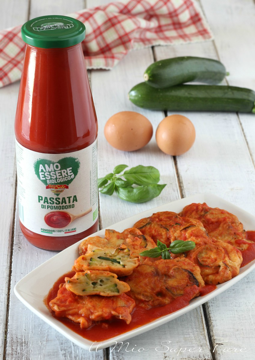 frittelle di zucchine al sugo ricetta iil mio saper fare
