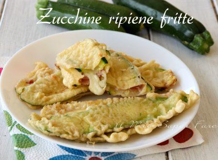 Zucchine ripiene fritte in pastella