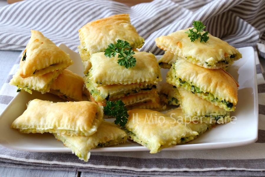 Quadrotti di zucchine ricetta con pasta sfoglia il mio saper fare