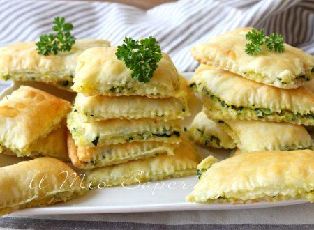 Quadrotti di zucchine ricetta con pasta sfoglia