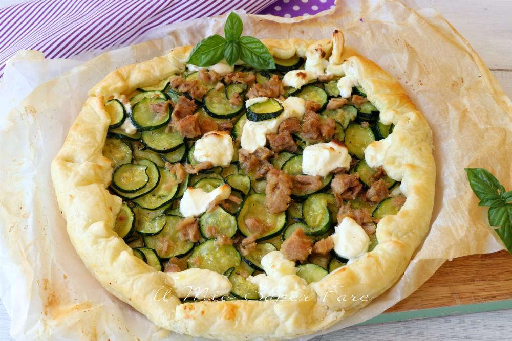 Torta rustica tonno e zucchine