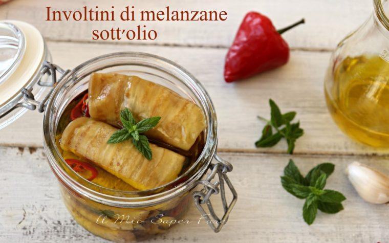 Involtini di melanzane sott'olio