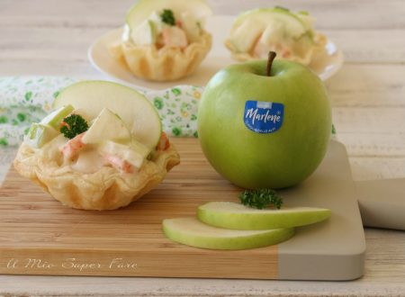 Tartellette alla polpa di granchio e mele