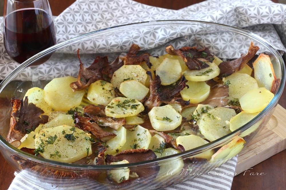 Funghi e patate al forno ricetta semplice il mio saper fare