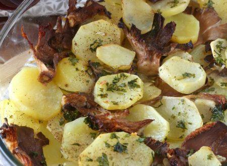 Funghi e patate al forno ricetta semplice