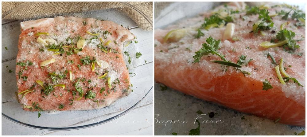 Ecco come procedere per preparare il salmone marinato a secco: