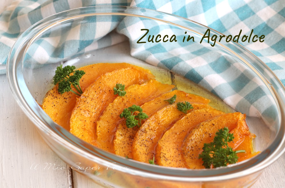 Zucca in agrodolce alla siciliana ricetta il mio saper fare